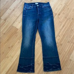 Mother Blue Insider Crop Growing Pains Jeans